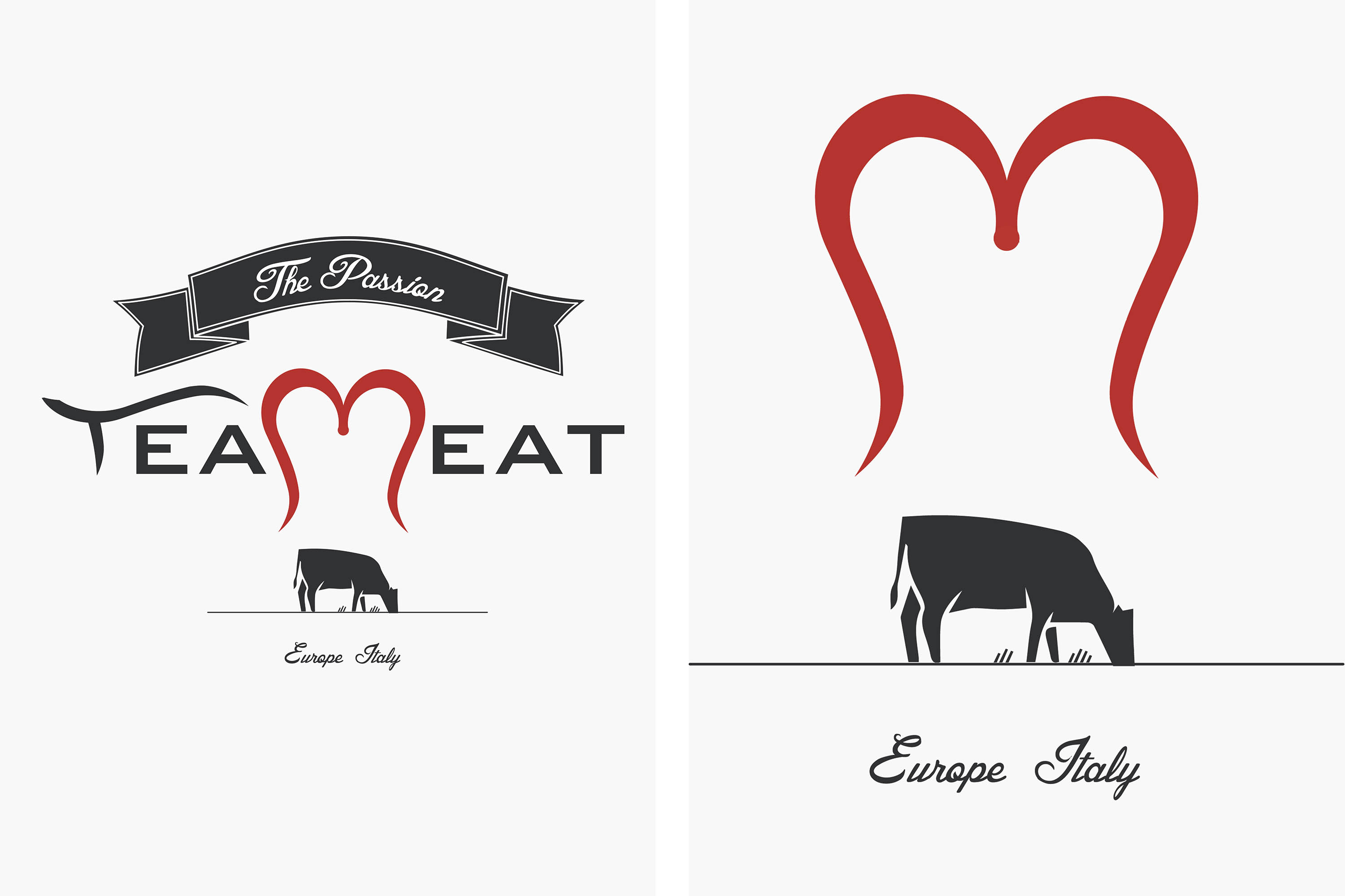 Teameat logo design